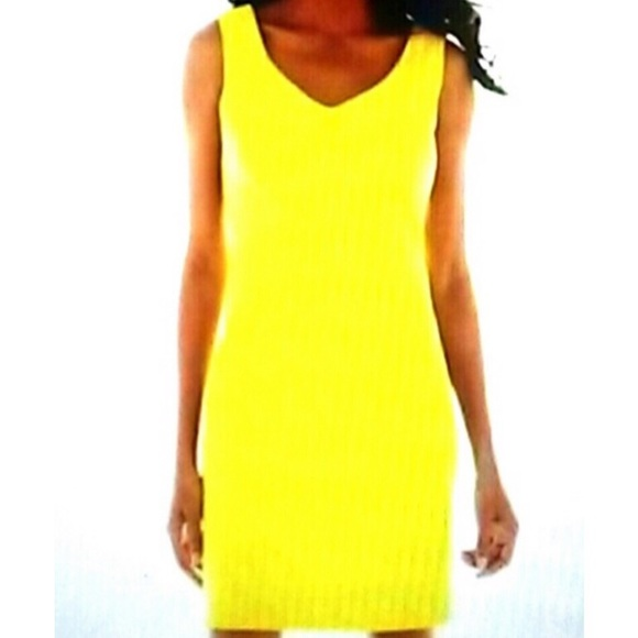 0f67482132ede Alyx Dresses   Skirts - Alyx Yellow Sleeveless Sheath Dress Sz 12